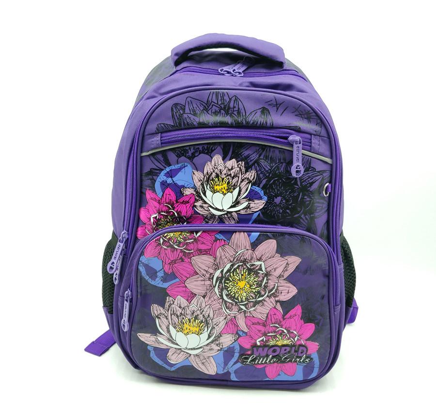 Рюкзак школьный Gorangd 28 х 40 х 15 см Фиолетовый (r1906/1)