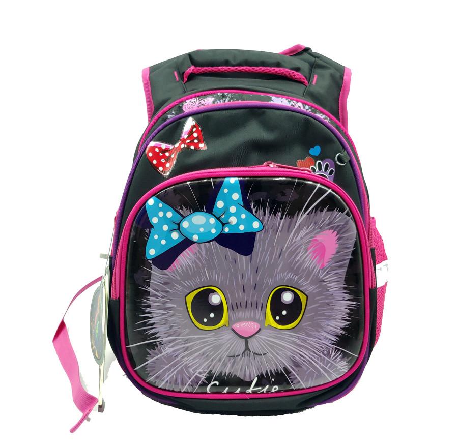 Рюкзак школьный Gorangd 30 х 40 х 16 см Черный с розовым (r1972/1)