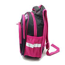 Рюкзак школьный Gorangd 30 х 40 х 16 см Черный с розовым (r1972/1), фото 3