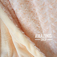 Плед покрывало Барашек ( Каракуль ) из бамбукового волокна. Евро размер  220х240 см.