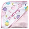 "Махровое полотенце с капюшоном ""I love mommy"". 70 х70 см"