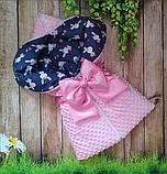 Конверт-ковдру осінь-зима-весна для новонароджених, фото 2