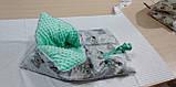 Конверт-ковдру осінь-зима-весна для новонароджених, фото 7