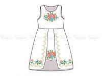 Заготовка детского платья для вышивки бисером «Розочки»