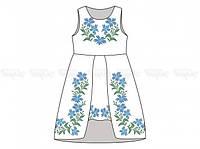 Заготовка детского платья для вышивки бисером «Васильки»