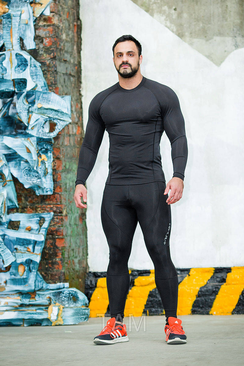 Рашгард мужской Totalfit RM4-Y71 L черный