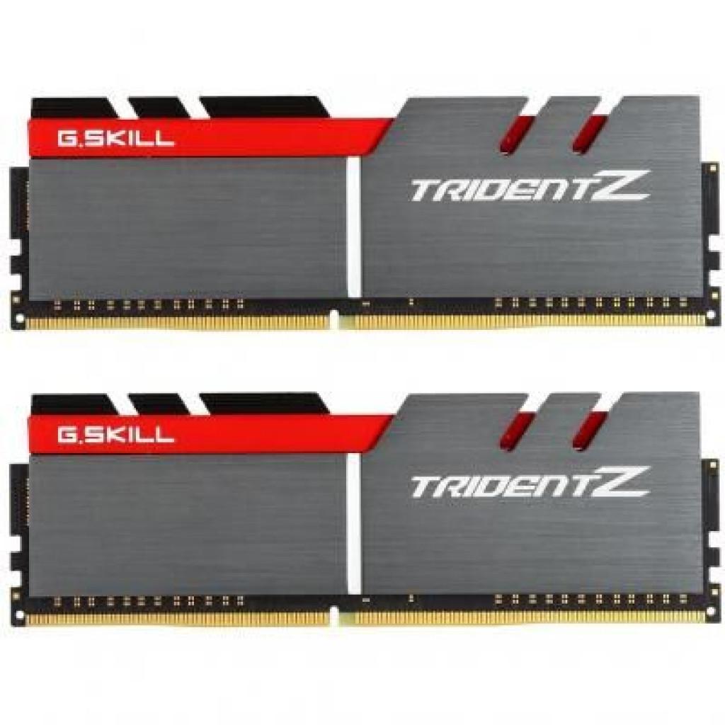 Модуль памяти для компьютера DDR4 16GB (2x8GB) 3200 MHz Trident Z Silver H/ Red G.Skill (F4-3200C16D-16GTZB)