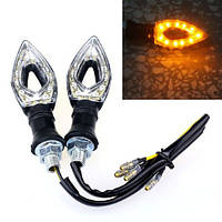 LED указатели поворота, поворотники для мотоцикла, пара