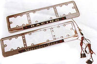 Рамка под номер NEON-Race-sport/хром/стекло/подсветка