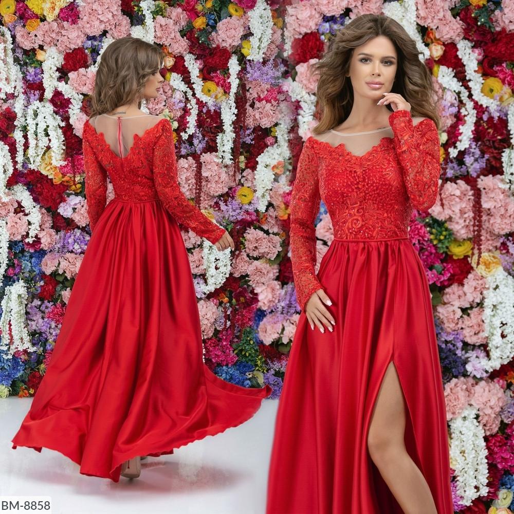Платье женское вечернее, длинное, в пол, верх гипюр с подкладкой низ шелк армани, роскошное, шикарное платье