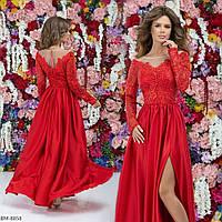 Платье женское вечернее, длинное, в пол, верх гипюр с подкладкой низ шелк армани, роскошное, шикарное платье, фото 1
