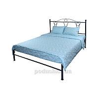 Постельное белье Руно бязь Голубой вензель Двуспальный евро комплект наволочки 50х70 см