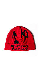 Шапка Moschino Boutique Красная (65125)