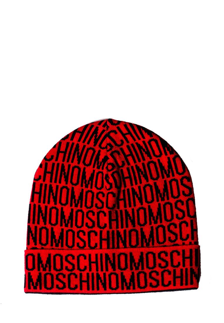 Шапка Moschino Черно-красная (60007)