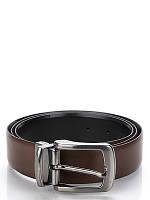 Ремень мужской Ferre Milano Черный/Темно-коричневый (FR-06)