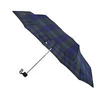 Компактный механический зонт Swifts в клеточку Синий (1771-3)