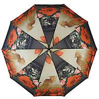 Зонт полуавтомат Susino цветочный принт Разноцветный (43006-1)