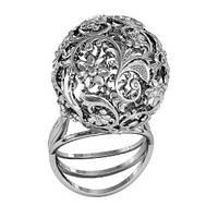 Кольцо серебряное Планета Роскоши