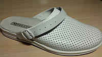 Сабо кожаные белые мужские теллус спец обувь оптом