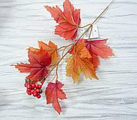 Листья клена осенние с ягодами-3