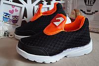 Текстильные кроссовки черные детские летние 31.32.33.35, фото 1