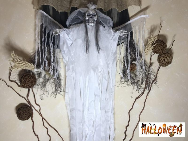"""Декор """"Мумия невеста в белом с криком и движущимися крыльями"""""""