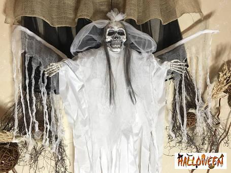 """Декор """"Мумия невеста в белом с криком и движущимися крыльями"""", фото 2"""
