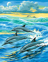 Картина раскраска по цифрам по номерам Дельфины Sequin Art SA0031