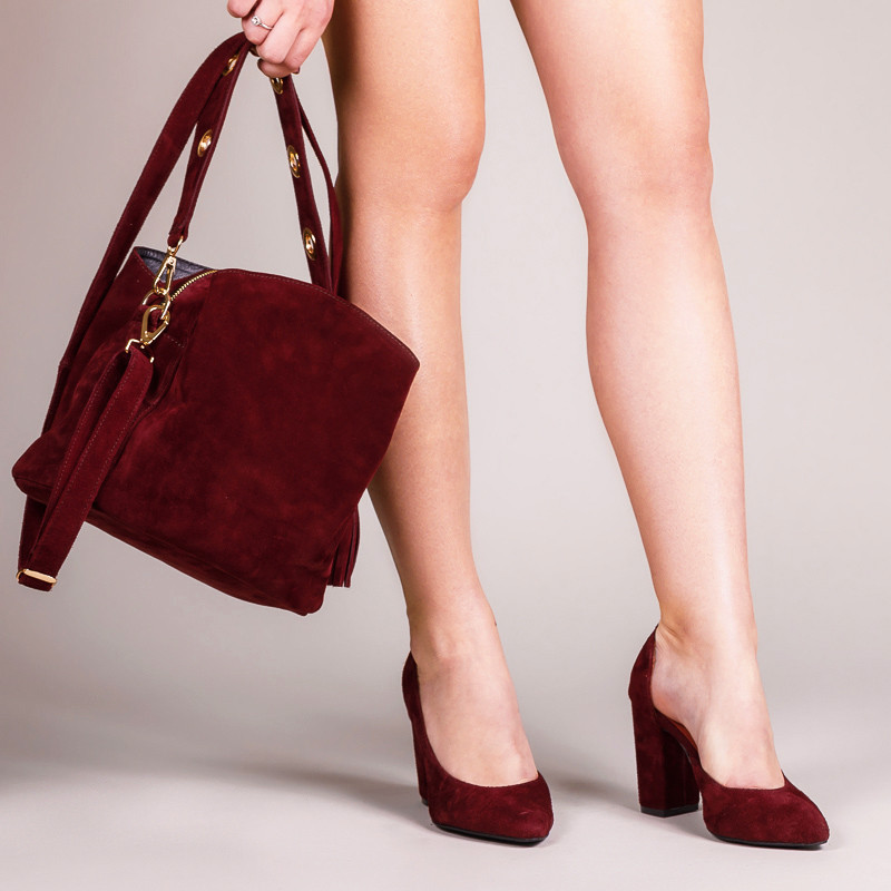 Модная сумка женская из натуральной замши бордового цвета. Цвет на выбор. Индивидуальный пошив.
