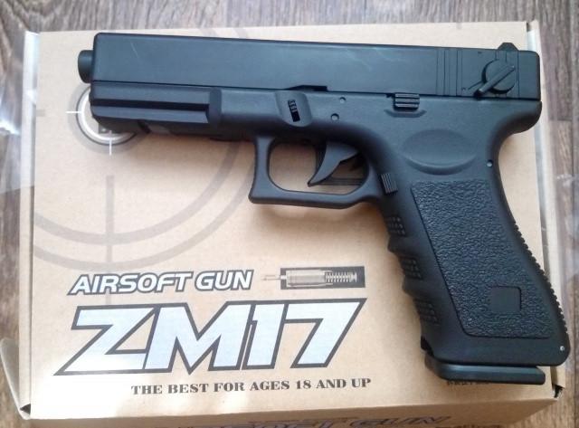 Игрушечный металлический пистолет Cyma ZM 17 Glock 18C Глок 18С металл, пластик
