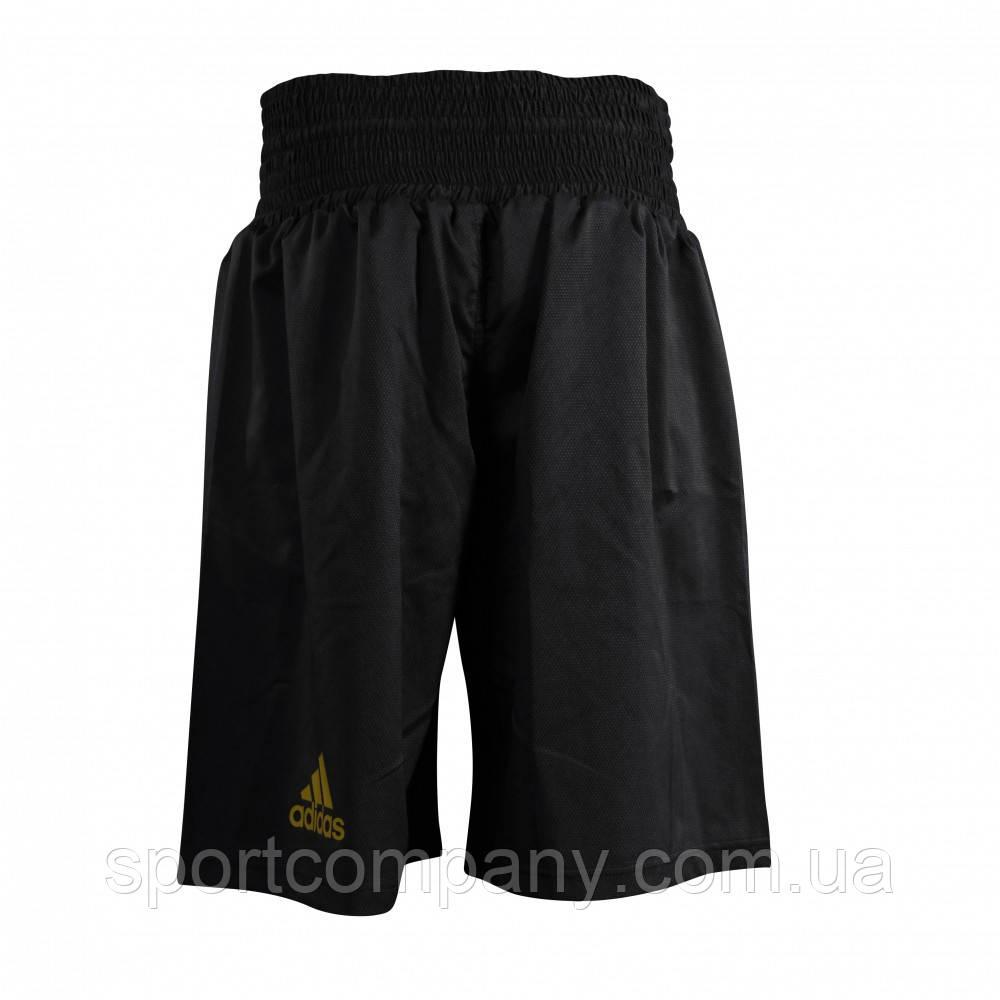 Шорты боксерские Adidas профессиональные Multi черные с золотым