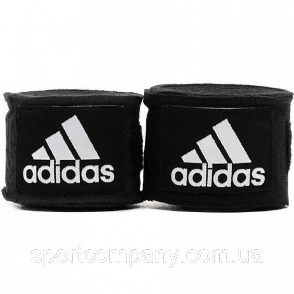 Боксерские бинты Adidas эластичные черные