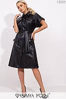 Платье-рубашка с короткими рукавами Разные цвета