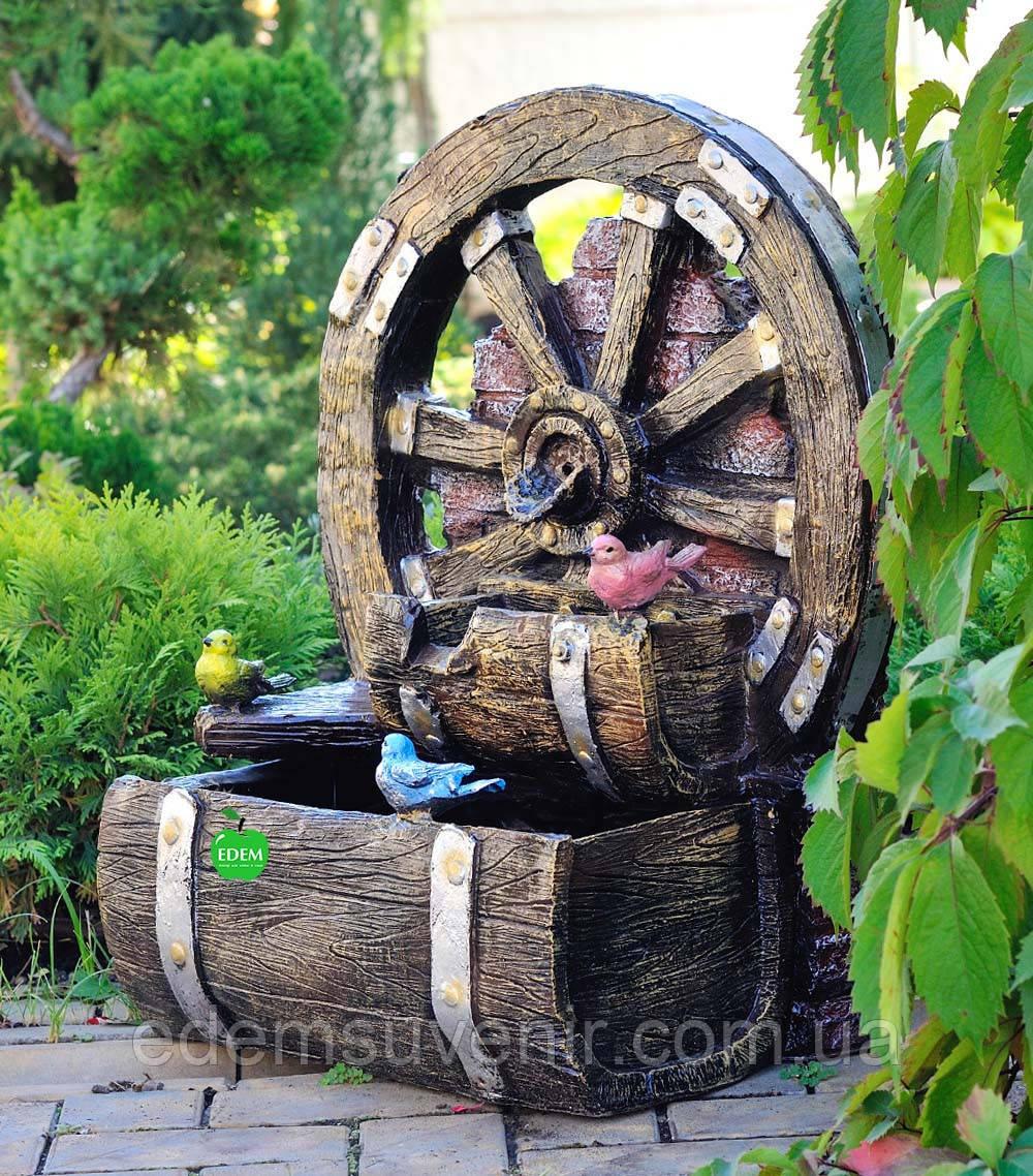 Декоративный фонтан Колесо
