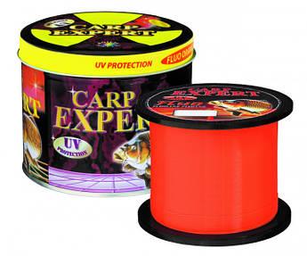 Волосінь Energofish Carp Expert UV Fluo Orange 1000 м 0.25 мм 8.9 кг