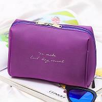 Косметичка с внутренними карманами Genner To Make 16х13х9см Фиолетовая (01032/05), фото 1