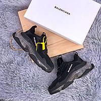 Мужские кроссовки Balenciaga Triple S Clear Sole Black (Реплика ААА+)