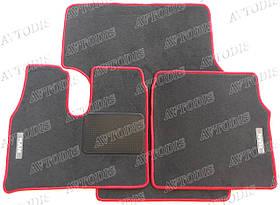 MAN TGA ворсовые коврики (узкая кабина)(серый-красный) ЛЮКС