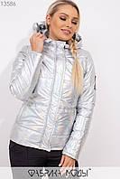 Голографическая куртка с капюшоном Разные цвета