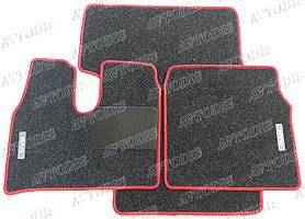 MAN TGA ворсовые коврики (узкая кабина)(антрацит-красный) ЛЮКС