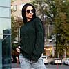 Теплый женский свитер крупной вязки Турция