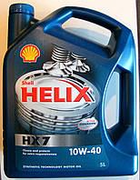 Моторное масло полусинтетическое   Shell(Шел)10W-40 Helix HX7 4л.