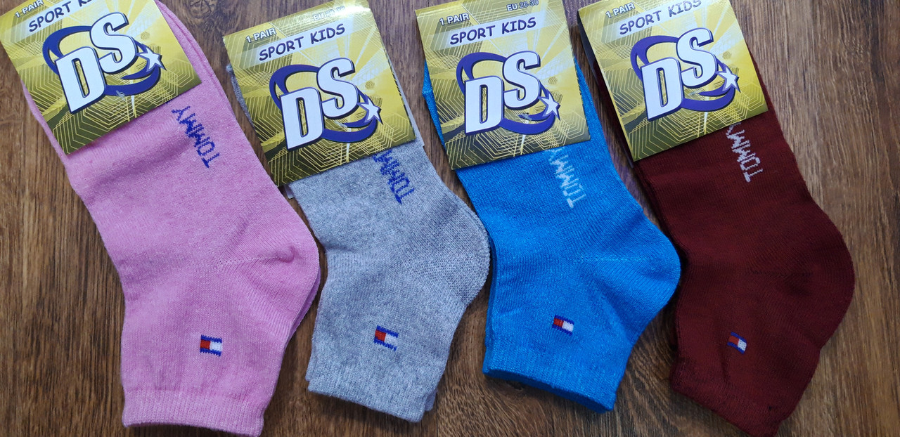 """Детские носки стрейчевые в стиле""""Tommy DS"""" для девочек 26-30 и 31-35"""