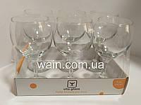 Набор больших бокалов для вина 275 мл 6 шт стеклянных Vita Glass, фото 1