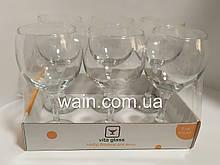 Набор больших бокалов для вина 275 мл 6 шт стеклянных Vita Glass