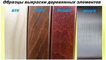 Кресло Оникс Орех механизм Anyfix кожзаменитель Титан Коньяк с вышивкой (Richman ТМ), фото 3