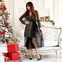 Платье-пиджак с фатиновой юбкой 11157