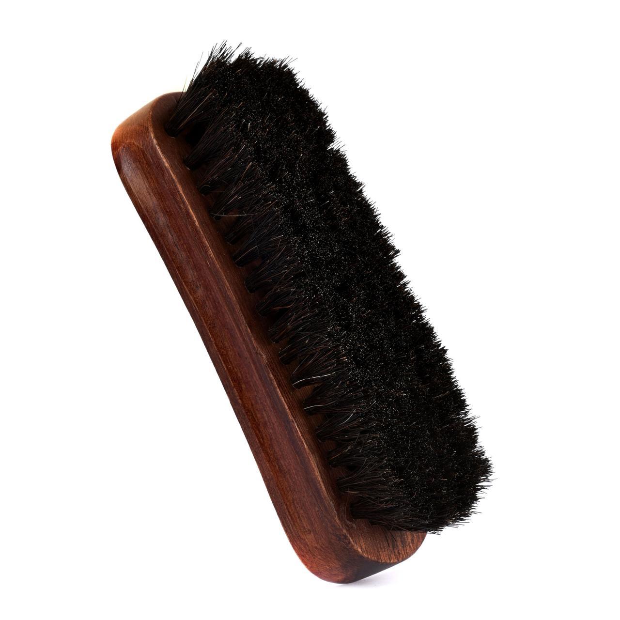 Щетка малая полировочная конский волос темный EASY (13 cm)