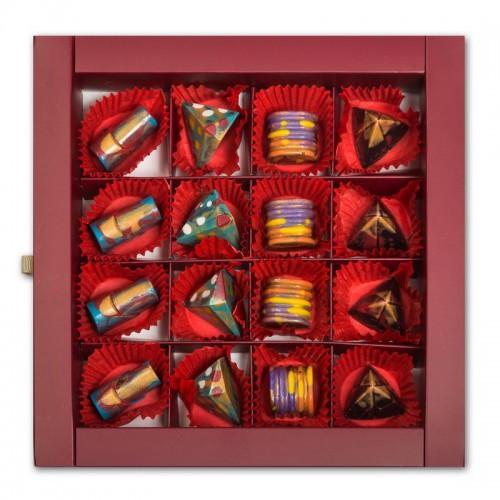 Шоколадный набор CraftBoxUA Оригинальный подарок Фруктовая коллекция 16 шт.