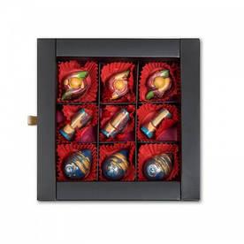 Шоколадный набор CraftBoxUA Оригинальный подарок Фруктовая коллекция 9 шт